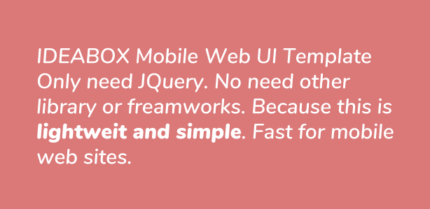 Ideabox - Mobile Web UI Template - 1